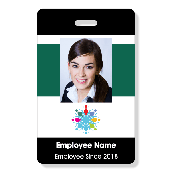 Color Bar ID Badge