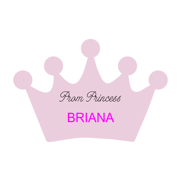 Crown Shaped Name Tag