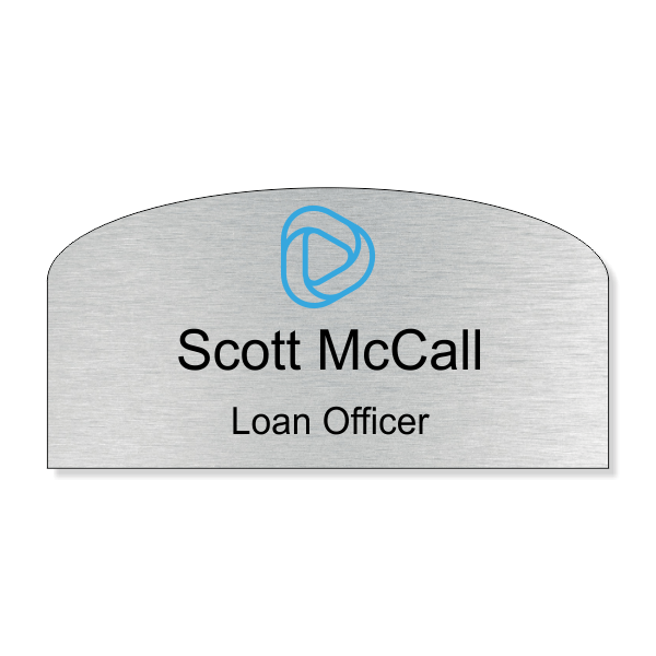 Custom Arched Name Tag