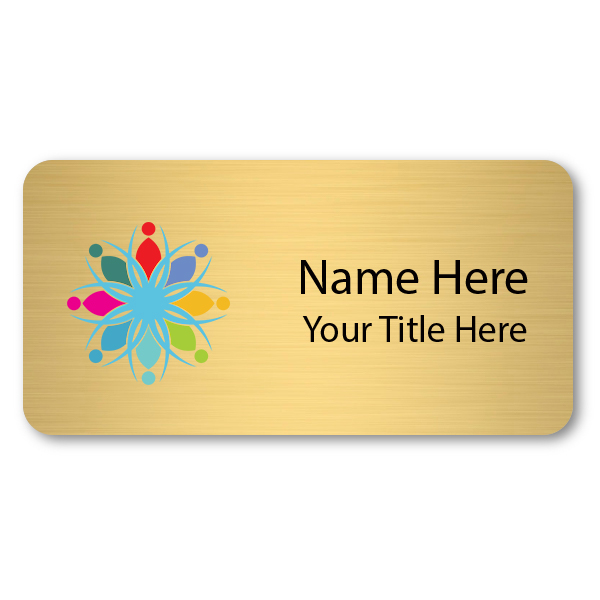 Custom Brushed Gold Name Tag - 1.5 x 3