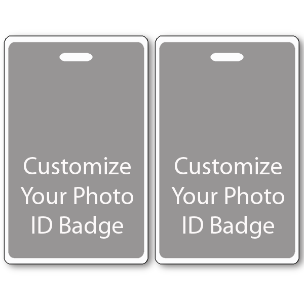 Custom Double Sided Vertical ID Card