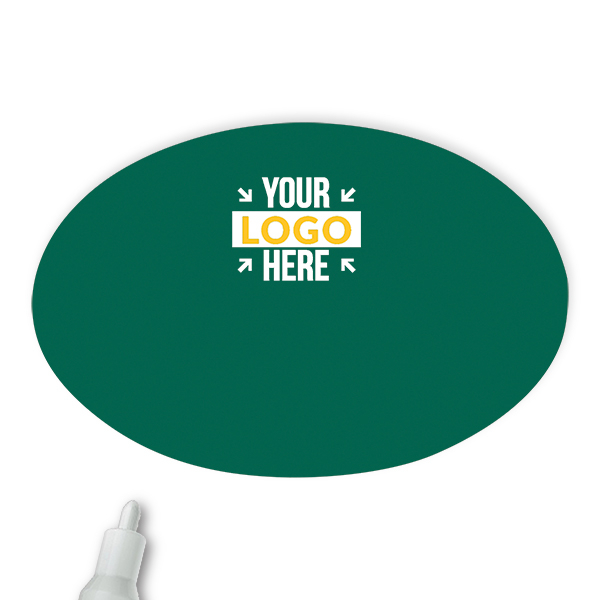 Customized Oval 2 x 3 Chalkboard Reusable Name Tag - Blank
