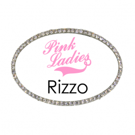 Pink Ladies Rizzo Costume Name Tag