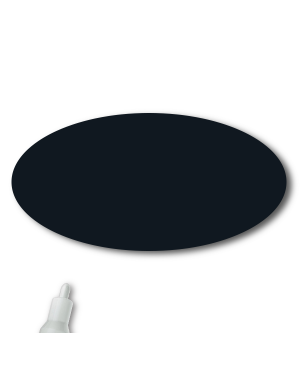Reusable Chalkboard Black Oval Name Tag
