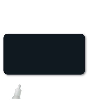 Reusable Chalkboard Black Rectangle Name Tag