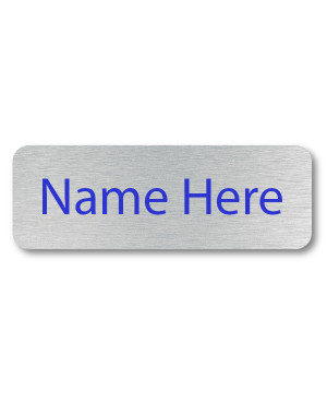 1 Line UV Printed Custom Name Badge