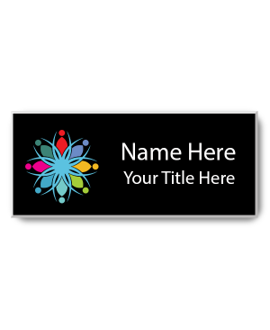 Magnetic Full Color Rectangle Name Tag