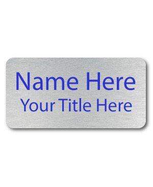 2 Line UV Printed Custom Name Badge