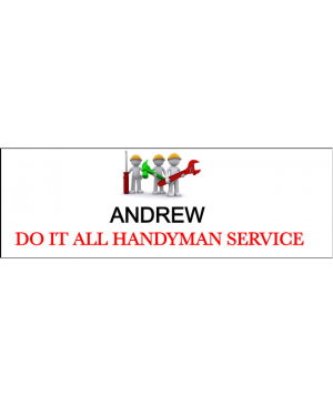 Maintenance Handyman Tools 2 Line Name Badge