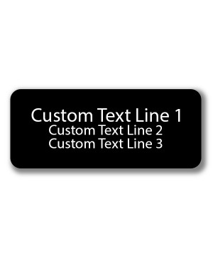 3 Line Laser Engraved Custom Name Badge