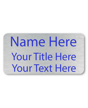 3 Line UV Printed Custom Name Badge