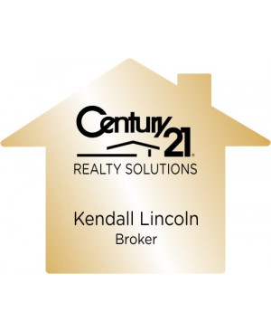 House Shaped Real Estate Name Tag