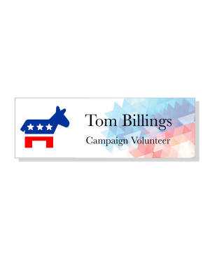 Abstract Liberal Political Name Tag