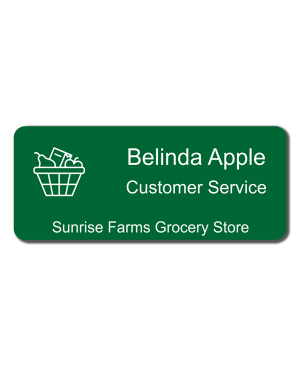 Grocery Store Name Tag