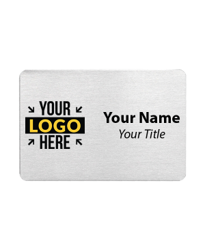 Custom Brushed Aluminum Name Tags - 2 x 3