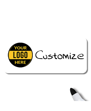 Customized 1.5 x 3.5 Dry Erase Reusable Name Tag