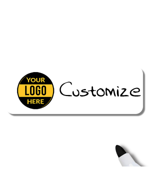 Customized 1.25 x 3 Dry Erase Reusable Name Tag