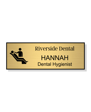 Dental Chair 3 Line Name Badge