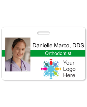 Dental Horizontal Photo ID Badge