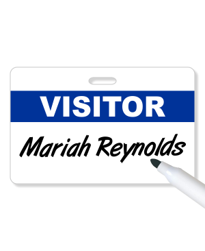 Dry Erase Visitor Badge