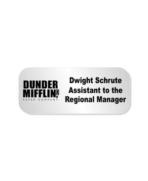 Dwight Schrute Dunder Mifflin Costume Name Tag
