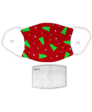 Holiday Triangle Tree Pattern Face Mask