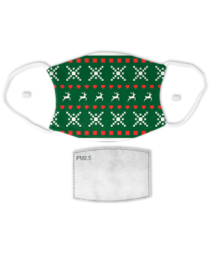 Holiday Ugly Sweater Pattern Face Mask