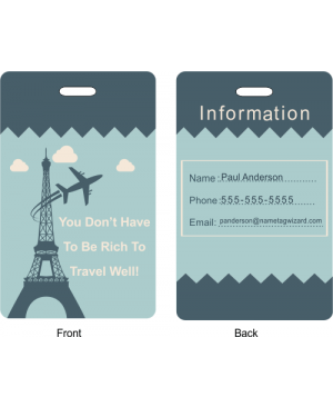 Flying Around The Eiffel Tower Luggage Tag