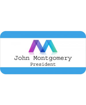 Full Color Logo Border UV Name Tag