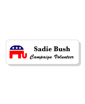 Full Color Republican Political Name Tag