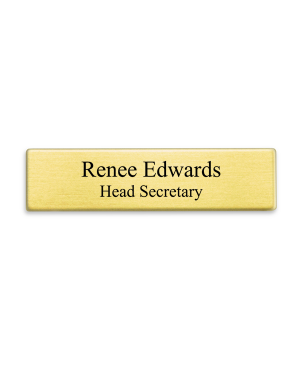 Gold Military Style Name Tag - Two Line
