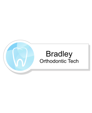 Gradient Tooth Orthodontist Dentist Name Tag