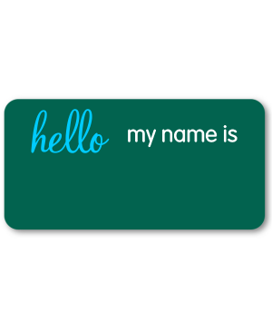 Hello my name is Rectangle Reusable Name Tag
