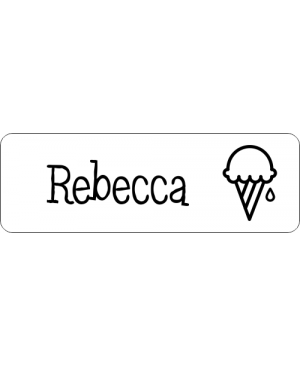 Ice Cream 1 Line Name Badge
