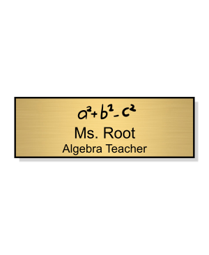 School Math Rectangle 2 Line Name Badge A