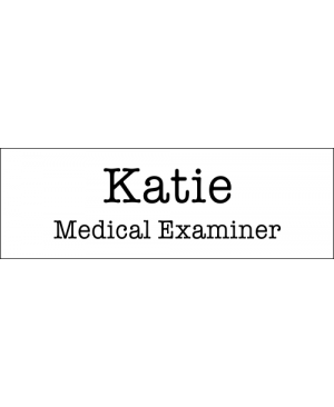 Medical Examiner Halloween Costume Name Badge