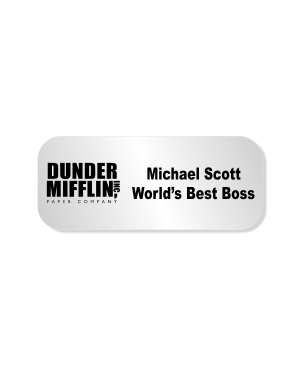 Michael Scott Dunder Mifflin Costume Name Tag