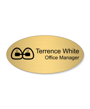 Orthodontist Oval Dentist Name Tag