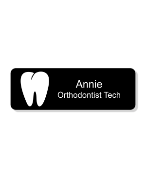 Orthodontist Tooth Dentist Name Tag