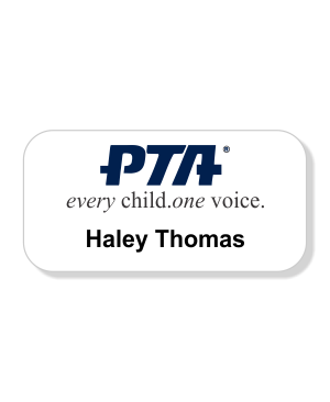 PTA Large Color Name Badge