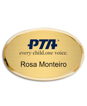 PTA Premier Oval Name Badge