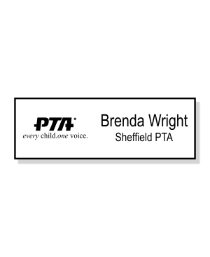 PTA Small Engraved Name Badge