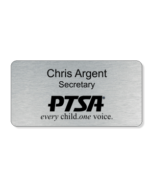PTA Large Engraved One Line Name Badge