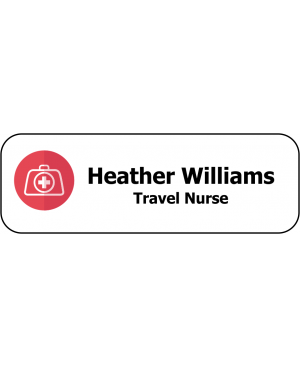 Travel Nurse Name Badge 1 by 3 Inch