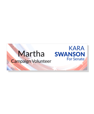 Right Logo Local Election Campaign Name Tag