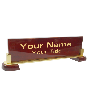 Customized Engraved Desk Plate |
