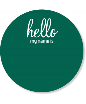 Round Hello My Name Is Reusable Name Tag