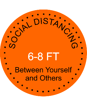 Round Social Distancing Floor Decal