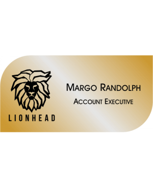 Rounded & Squared Shaped Rectangle Name Badge