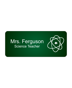 School Biology Rectangle 2 Line Name Badge A